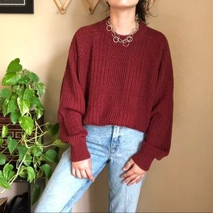 「Vintage」Sears Red Knit Sweater